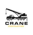 silhouette transport crane logo vector image vector image