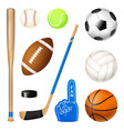 sport inventory realistic set vector image