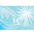 Summer blue background vector image vector image