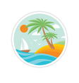 Summer holiday - travel logo vector image vector image