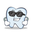 super cool tooth character cartoon style vector image vector image