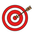 target with arrow icon vector image
