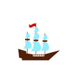 the ship prow or argos icon in color vector image