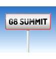 Traffic board Summit G8 vector image