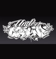 underground graffiti lettering art vector image vector image