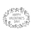 valentine day greeting card with people with vector image vector image
