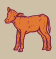 veal icon hand drawn style vector image