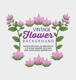 vintage flowers with natural leaves style vector image vector image