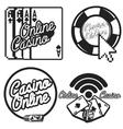 Vintage online casino emblems vector image vector image