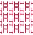 Watercolor seamless pattern with fire ladder on vector image