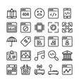 Web Design and Development Colored Icons 7 vector image vector image