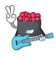 with guitar ikura mascot cartoon style vector image vector image