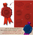wax seal - top secretxa vector image