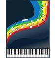 music like a rainbow vector image