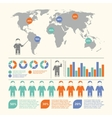 People infographic set vector image