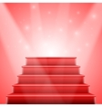 Photorealistic Isolated Red Stairs to Stage vector image