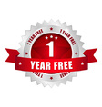 1 year free button vector | Price: 1 Credit (USD $1)