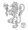 a medieval heraldic coat arms heraldic lion vector image vector image