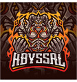 abyssal esport mascot logo design vector image vector image