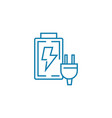Accumulator charging linear icon concept vector image