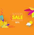 autumn sale seasonal offer poster template vector image