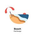 beach flat vector image vector image