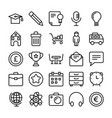 business and office line icons 4 vector image vector image