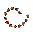 butterfly arranged flying animal decoration vector image