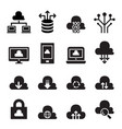 cloud computing concept icon set vector image vector image