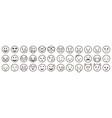 emoticons set emoji faces collection emojis flat vector image