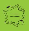 farmers market frame for menu food design vector image vector image