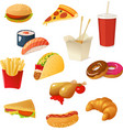 Fast Food Elements Set vector image vector image