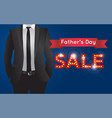 fathers day sales logo icon design vector image vector image