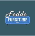 fedde furniture retro street signboard vintage vector image vector image