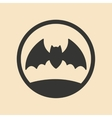 Flat in black and white mobile application bat vector image vector image