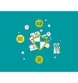 Flat shield icon Data protection concept vector image