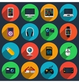 Gadget flat icons vector image