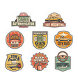 gas station mechanic garage and car service icons vector image