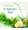 Gold coins and tropical Leprechaun drink vector image vector image