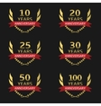 Golden Anniversary labels vector image vector image