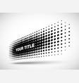 halftone horizontal perspective dots logo emblem vector image vector image
