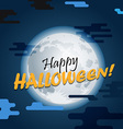 Halloween greeting card Happy Halloween vector image vector image