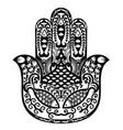 hamsa hand of fatima vector image vector image