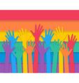 hands raising vector image
