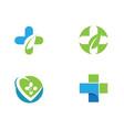 health medical logo template vector image