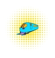 High speed train icon comics style vector image vector image