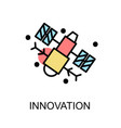 innovation icon and satellite on white background vector image