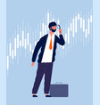 investor character businessman view thru vector image