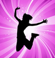 Jumping woman vector | Price: 1 Credit (USD $1)