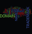 legal issues about trademarks and domain names vector image vector image